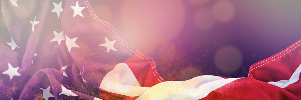 Composite image of united states flag