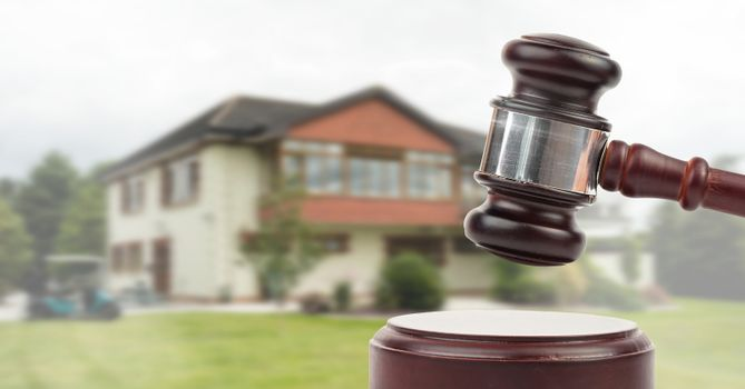 Gavel and property auction