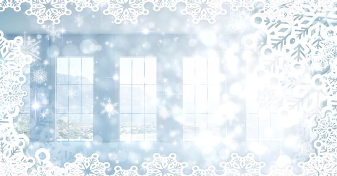 Snowflakes and windows