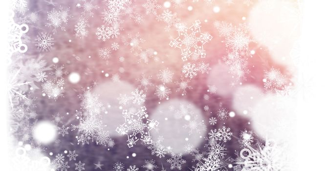 Snowflakes and lights