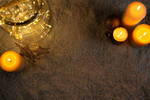 christmas candles and smooth lights