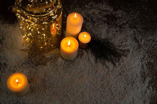 Christmas smooth lights and candles