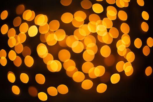 unfocused yellow Christmas light