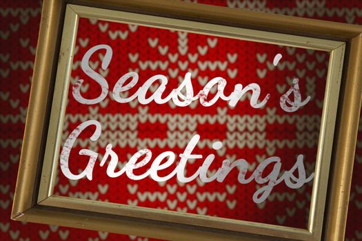 Composite image of seasons greetings