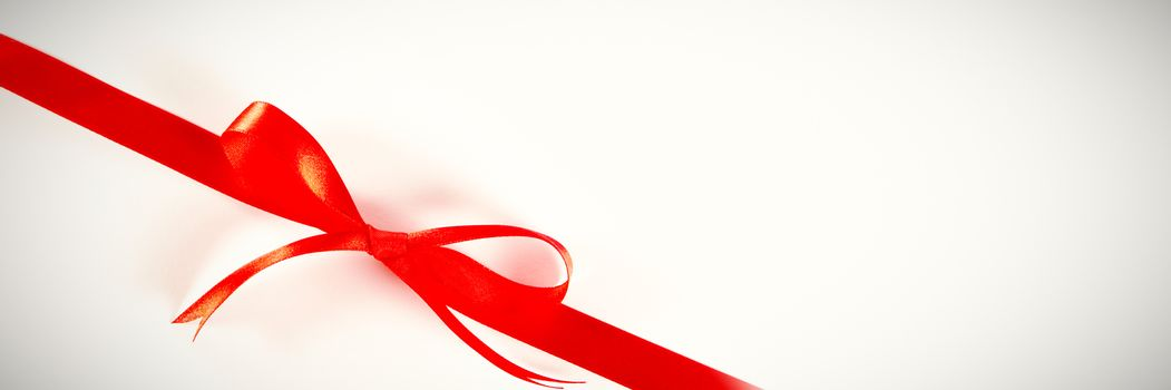 gift red ribbon bow, knot