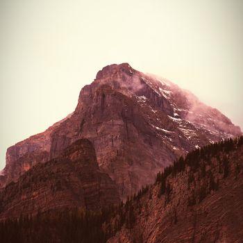 Mountain range in the sky