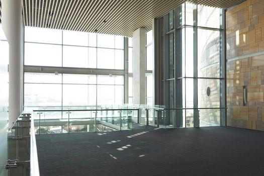 Empty commercial office balcony