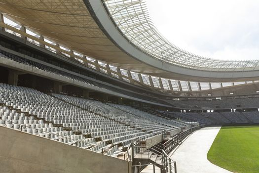 Empty Rugby stadium in the morning