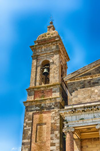 Belltower of the Roman Catholic Cathedral of Montalcino, in the province of Siena, Tuscany, Italy