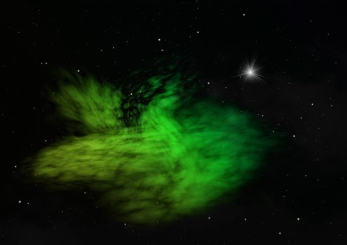 Star field in space and a nebulae.