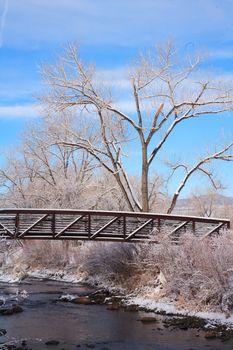 Winter On Clear Creek Near Denver Colorado