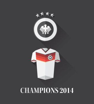 German world cup champion vectors