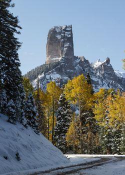 Chimney Rock on Owl Creek Pass - Colorado Rocky Mountain Scenic Beauty