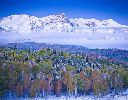 A collision of seasons in the San Juan mountains of Colorado.