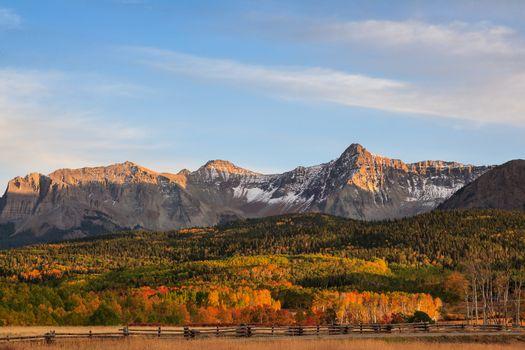 Autumn Scenery in the Rocky Mountains of Colorado - The San Juan Mountains in Autumn