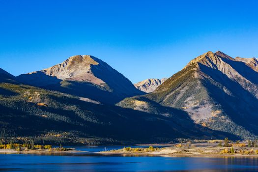 The Collegiate Mountains. Quail Mountain, Mt. Hope and Rinker Peak. Autumn Scenery in the Beautiful Rocky Mountains of Colorado