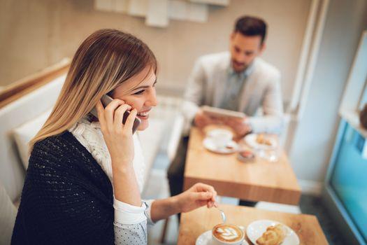 Businesswoman On A Coffee Break