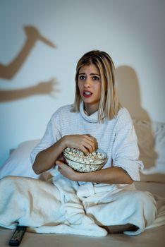 Girl Watching Horror Movie
