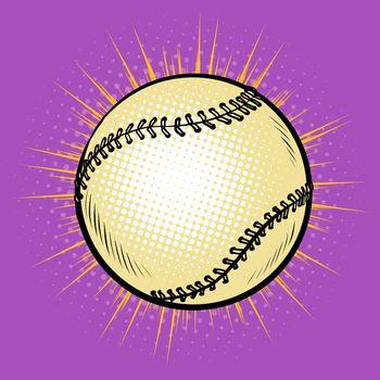Baseball and tennis ball