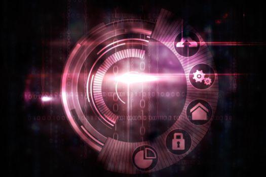 Pink technology dial interface design