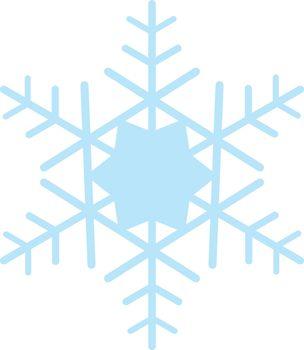 Digitally generated blue snow flake