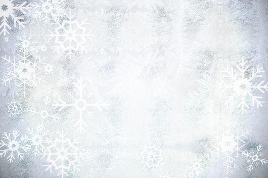 Silver snow flake pattern design
