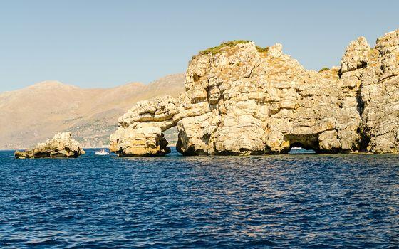 Wild beautiful coastline at the Zingaro Natural Reserve, Trapani, Sicily, Italy