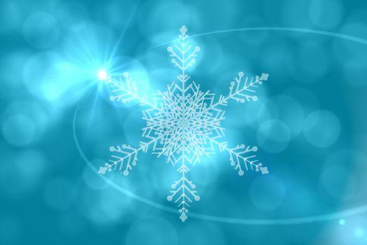 Blue snow flake pattern design