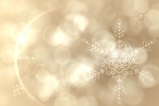 Cream snow flake pattern design