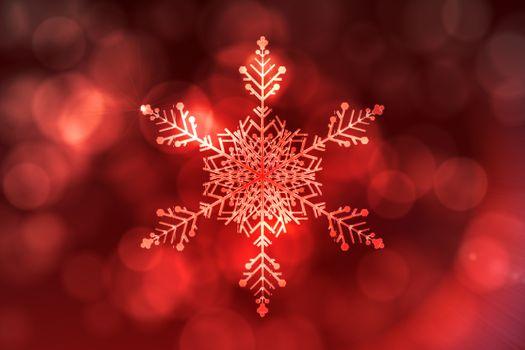 Red snow flake pattern design