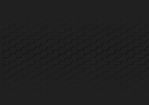 Black Hexagonal Texture - Geometric Honeycomb Grid Background Illustration, Vector Design Element