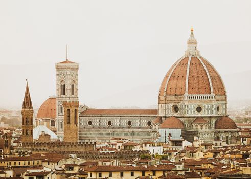 Cathedral Santa Maria del Fiore at sunset, Florence.