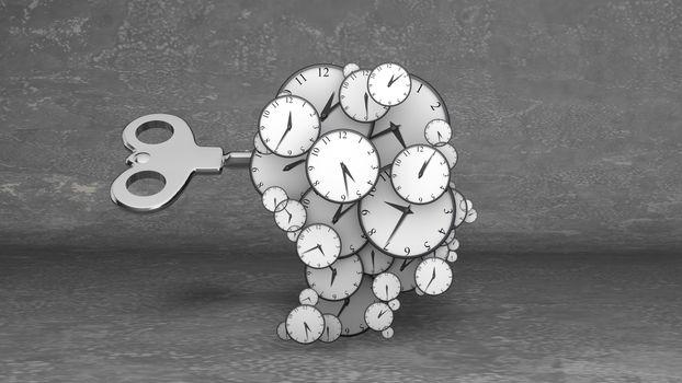Many blow your brain clocks with key