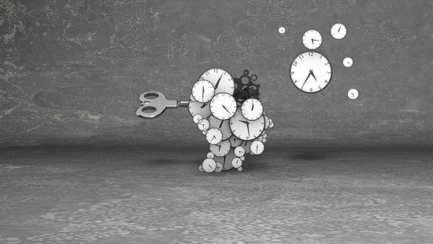 Blow your brain clocks with retro key