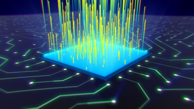 Microchip Power and Energy Holographic Image