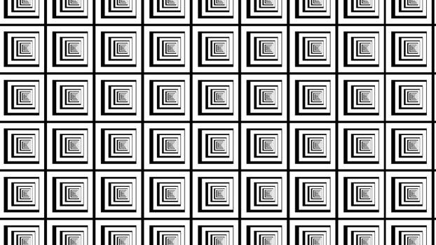 Straight black and white squares illusion