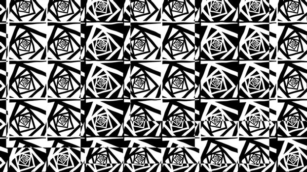 Optical black and white squares illusion