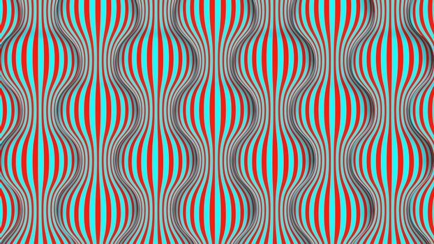 Pop art spherical red and green vertical waves