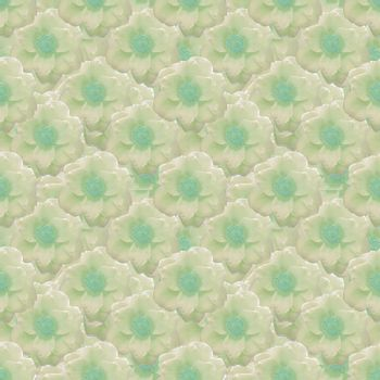Beautiful pale yellow and green flower motif seamless pattern design