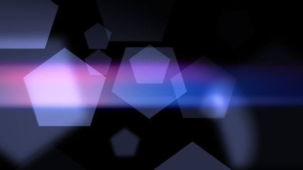 Abstract geometric background with pentagons
