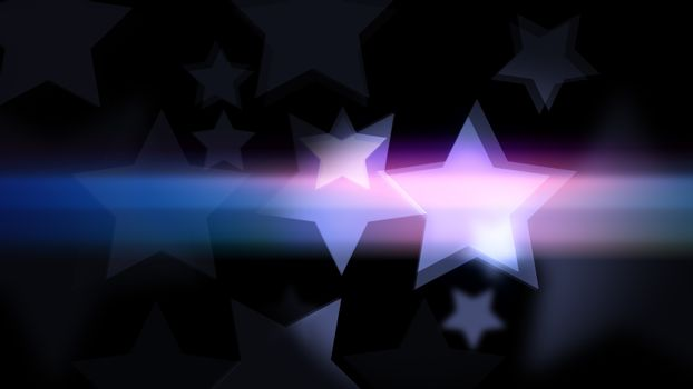 Holiday background with glittering stars