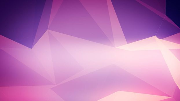 Background with triangles connected in violet and pink and purple colors.