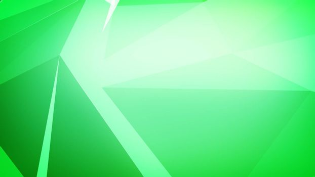 Triangles connected in  green color.