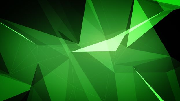 Abstract background in green color.