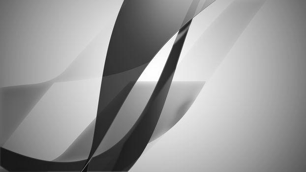 3d illustration of wavy strips