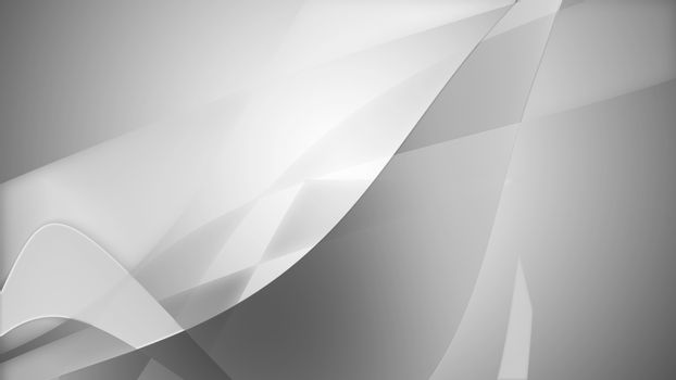 Smooth grey background with bened lines.