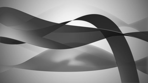 Lovely wavy background with bended lines