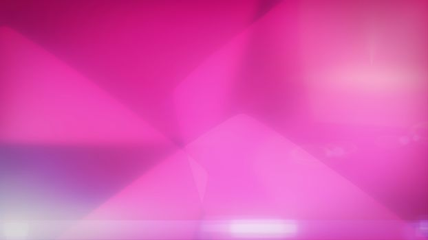 Smooth pink background with soft hexagons.