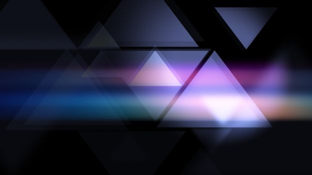 Triangles smooth modern background.