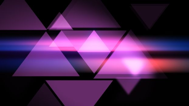 Pink Triangles smooth modern background